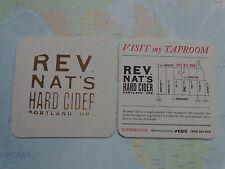 Beer Bar Coaster ~ Rev (Reverend) Nat's Hard Cider ~ Portland, OREGON Breweriana