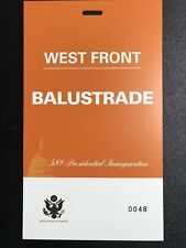 Donald Trump Presidential Inauguration ORANGE BALUSTRADE CREDENTIAL W/ HOLOGRAM