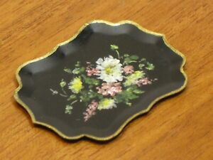 Florence Magee Hand Painted Large Toleware Tray Artist Dollhouse Miniature