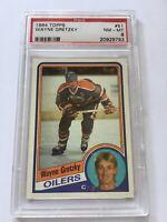 1984 Topps Hockey Wayne Gretzky #51 Edmonton Oilers  Graded PSA