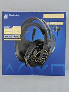 Plantronics RIG 500 PRO HS Wired Gaming Headset for PS4 - Black