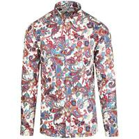 NEW MADCAP RETRO MOD MENS 60s 70s BIG COLLAR Button Down PAISLEY SHIRT MC477