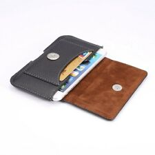 Universal Mobile Phone Horizontal Leather Belt Loop Card Slot Case Pouch Cover HTC Desire 526 526g Black