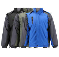 Men's Two Toned Lightweight Removable Hood Zipper Quilted Lined Puffer Jacket