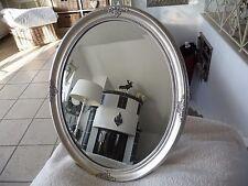 Barock Spiegel Wandspiegel Retro Spiegel Silber 57x47c Oval Holz Shabby Chic NEU