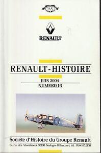 revue renault histoire juin 2004, n°16
