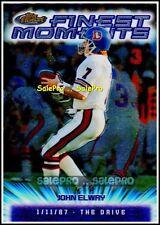 TOPPS FINEST MOMENTS 2000 JOHN ELWAY NFL DENVER BRONCOS JUMBO BOX TOPPER 3/7