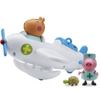 PEPPA PIG Doctor Dr Hamster Veterinary Plane inc Peppa & Hamster Figures **NEW**