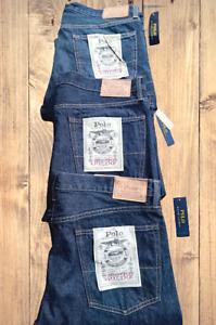 Polo Ralph Lauren Hampton Straight NWT Blue Jean Lot Bundle Men's 36 / 38 TALL