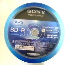 New 50 Sony Blank Blu ray Discs 25GB 4x BD-R 50BNR1VGPP4 Spindle Hard Japan
