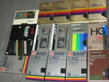 Lot of 16 Betamax Tapes Used Sony BASF Scotch Selling as Blanks Content Unknown