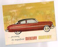 1950 {6-50 issue} MERCURY MONTEREY Brochure / Pamphlet