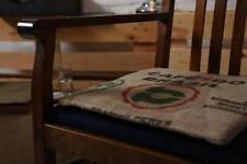 Sitzkissen Sitzauflage Stuhlkissen Kissen aus Kaffeesäcken Jute 40x40x1,5