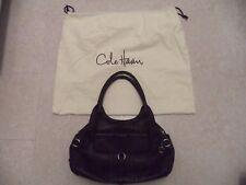 Hi End Black COLE HAAN  Leather Tote Satchel Hand Bag Purse EUC! with cloth bag