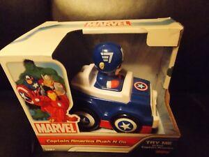 NEW Marvel Captain America Push N Go Racer Spinning Wheels Car Toy 12M+ NEW