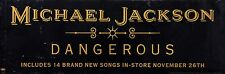 MICHAEL JACKSON 1991 ORIGINAL DANGEROUS 2-SIDED PROMO BANNER