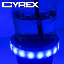 GLOW LED LIGHT TRIM RING FOR MARINE BOAT/RV STAINLESS STEEL CUP DRINK HOLDER