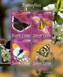 Sierra Leone Butterflies Stamps 2020 MNH Mourning Cloak Butterfly Insects 4v M/S