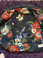 Joules Women's Navy Higham Padded Gilet Blue Floral Lined (UK12/BNWOT)