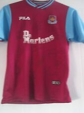 2001-2002 Squad Signed West Ham United Hammers Football Shirt /41000