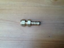 New 1/4in hard pipe to 3/8 rubber pipe brass fitting boating