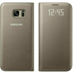 Samsung Galaxy S7 Edge Official LED Display View Cover Flip Phone Case - Gold