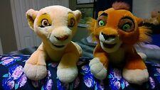 RARE EUC Lion King II France Jemini Kiara Kovu Pyjama Bag Plush Set