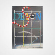 HUGE 1980s Vintage Danish Industrial Art 'Design' Exhibition Postmodern Poster