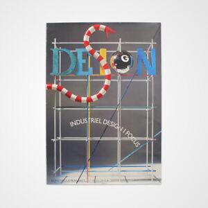 HUGE 1980s Vintage Danish Industrial Art 'Design' Exhibition Postmodern Poster