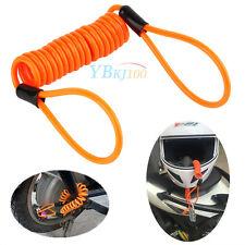 Diebstahlschutz Disk-Sperre Kabel für Motorrad Bremsscheiben-Schloss Orange 1.2M
