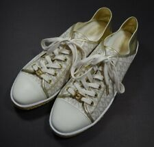 Michael Kors Womens Kristy Vanilla Gold Low Top Fashion Sneakers Espadrille 10