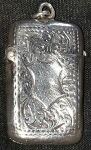 antique silver vesta case
