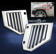 2003-2009 HUMMER H2 SIDE VENT COVERS CHROME FRONT HOOD INTAKE BEZEL SUT SUV PAIR