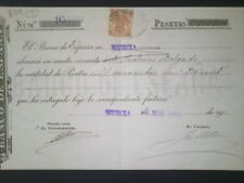 B79-SELLO FISCAL 1904  DOCUMENTO BANCO ESPAÑA MURCIA