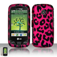 LG Cosmos Touch VN270 Protector Hard Case Snap on Phone Cover Hot Pink Leopard