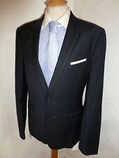 MENS TED BAKER PASHION NAVY SUMMER PROM WOOL SUIT JACKET 38 R WAIST 36 LEG 33.5