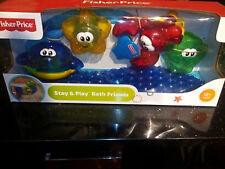 Baby Bath Toy | Fisher Price Stay n Play Bath Friends | Kids Bath Toys