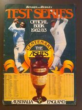 Cricket Test Series Official Book 1982/83 Centenary The Ashes Benson & Hedges