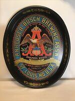 "Vintage ANHEUSER BUSCH BREWING ASSN Eagle "" 2000,000 Barrels"" Metal Serving Tray"