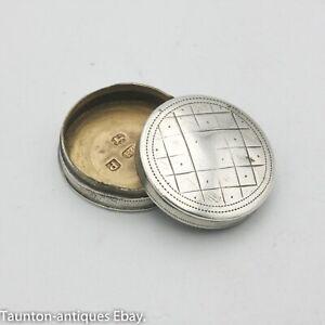 Georgian silver patch / game token counter pot John Thornton 1801 Birmingham
