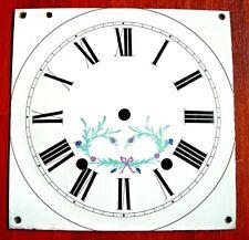 Cadran émail carré d'horloge comtoise recent réplique,pendule,Morbier uhr 8