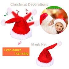 45cm Christmas Magic Dancing Hat Swing Santa Hat Electric Funny Christmas CapUOS