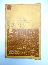 CAT Caterpillar 225 Excavator Parts Catalog Manual SEBP1226