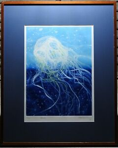 Frank Hodgkinson (1919-2001) Original Etching Chironex Fleckeri Box Jelly Fish