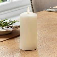 Lights4fun Large TruGlow™ Pillar Candle Battery LED Flameless with Timer 15cm Re