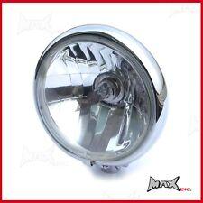 "Universal Motorbike 5.75"" Chrome Headlight - Harley Davidson Sportster Project"
