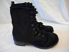 Women's Rue 21 Front Lace Super Soft Boots Size X-Large 10 Black  NEW