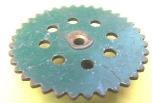Meccano Sprocket  Wheel, 2 inch, green, part 95