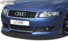 RDX SPOILER Anteriore Audi a4 b6 8h Cabrio -2005 spoiler labbro Approccio Frontale Anteriore