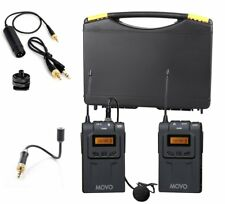 Movo Wireless UHF Lavalier & Goosneck Microphone System for DSLR Video Camera
